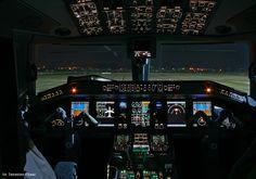 #Cockpit View / #Airplane #Plane #Captain / photo: Sebastian Elijasz / Port Lotniczy Gdańsk