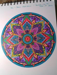 ColorIt Mandalas to Color Volume 1 Colorist: Katherine White #adultcoloring #coloringforadults #mandalas #mandala #coloringpages