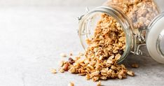 What is Granola? What is Granola? Dried Berries, Dried Blueberries, Dried Apples, Low Calorie Granola, Gluten Free Breakfasts, Gluten Free Recipes, What Is Granola, Graham Flour, Peanut Butter