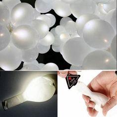 2016 Nuovo Arrivo 50 Pz/borsa FAI DA TE Decorazione Della Festa Nuziale Bianco LED Lattice Palloncini LED Light Up Balloon 2016 Nuovo Trasporto libero