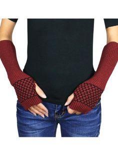 Dahlia Women's Honeycomb Pattern Acrylic Fingerless Arm Warmer Gloves - Red Dahlia http://www.amazon.com/dp/B009TCFGZE/ref=cm_sw_r_pi_dp_deZjub1F8E8EA