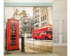 London vintage,αυτοκόλλητο  ντουλάπας Vehicles, Vintage, Rolling Stock, Vintage Comics, Vehicle, Primitive, Tools