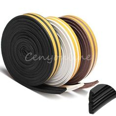 5M Window Door Excluding Draft Foam Seal Strip Self Adhesive Rubber Roll E Tape #Unbranded