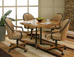 Swivel Dining Room Chairs Casters - Nowadays, it's really a favorite style to mix and match your dining room table and your d