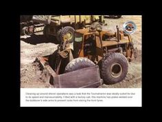 Always the innovative thinker when it came to earthmoving equipment, Robert LeTourneau came up with the idea of the Tournatractor in By RICHARD CAMPBEL. Earth Moving Equipment, Detroit Diesel, Torque Converter, Windy Day, North Africa, Heavy Equipment, Retro, Monster Trucks, Things To Come