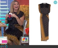 Striped Jumpsuit, Striped Dress, Silk Dress, Wrap Dress, Jenna Bush, Pink Floral Dress, Print Wrap, Black Print, Fashion Outfits