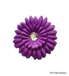 Hair Flowers Adult/Children Purple £2 #hairaccessories #flower #adult #children #purple #fashion #accessories