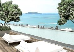 The Yamu infinity pool overlooks the jutting limestone stacks of the Phang Nga protected national park in Thailand Hotel Swimming Pool, Amazing Swimming Pools, Best Swimming, Cool Pools, Thailand Honeymoon, Phuket Thailand, Honeymoon Destinations, Hotels And Resorts, Best Hotels
