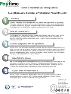WebBased Payroll  Paytime Payroll Services