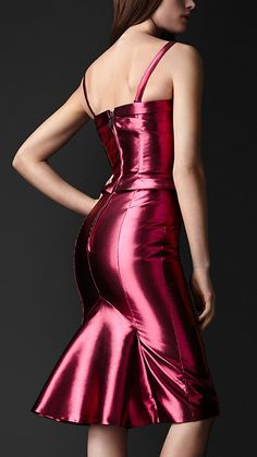 Burberry 2013, Kickback Metallic Pink Bustier Dress