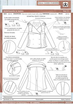 Análisis de sastrería y propuesta de molderia – Asistencia en Entregas Flat Sketches, Tech Pack, Fashion Portfolio, Technical Drawing, Manga, Fashion Flats, Sewing Techniques, Sewing Patterns, Clothes