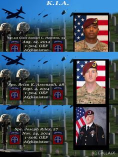 #82ndAirborneDivision .......... Today, we honor the service of Spc. Joseph Riley from the 1st Battalion, 508th PIR, Spc. Brian Arsenault and Sgt. 1st Class Samuel Hairston, both from the 1st Battalion, 504th PIR. These extraordinary Paratroopers give their lives in defense of our Nation while deployed to Afghanistan this year. To date, more than 250 Paratroopers have given the ultimate sacrifice during the Global War on Terror. Rest in peace, Brothers. May you have clear skies and calm…