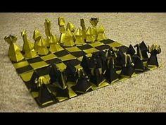 origami instrucciones de plegado : juego de ajedrez.