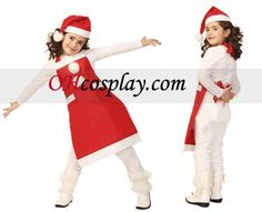 Children Christmas Apron and Cap Grace Cosplay Costume