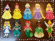 Perler beads princess