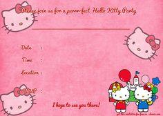 free hello kitty invitation maker