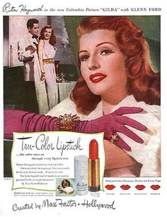 Max Factor lipstick ad #vintage #advert #beauty