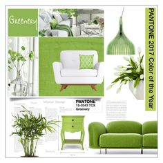 """""""Greenery PANTONE 2017 Color of the Year"""" by queenofsienna ❤ liked on Polyvore featuring interior, interiors, interior design, home, home decor, interior decorating, Lux-Art Silks, Kartell, Manual Woodworkers & Weavers and Moooi"""
