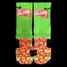 Skittles Parody Custom Nike Elite Socks by LuxuryElites on Etsy, $35.99