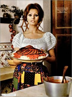 Sophia Loren she was the real dish but I adore how much of a mama she always claimed to love domestic life - I imagine whirlwind Stardom would make a girl crave the creature comforts of home.