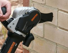 Arbortech Brick and Mortar Saw Saws Through Brick Like Butter - Arbortech brick saw AS170 Brick Saw, True Up, Like Butter, Brick And Mortar, Removal Tool, Cool Tools, Outdoor Power Equipment, Concrete Patios, Technology