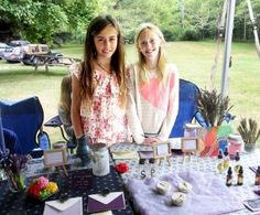 Young entrepreneurs Graysen Kirk, 11 and Milla Clarke, 10, displayed a wide variety of their home-made lavender products, including soap, oil, hand cream, spray, bouquets, and even cards — Susan Safford