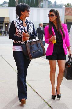 A Pop of Pink! Kris Jenner Kim Kardashian Hot Pink Jacket – Kim Kardashian: Official website