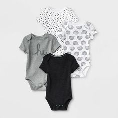 Baby Hug Me Bodysuit Set - Just One You® made by carter's White/Black Cloud Island, Gerber Baby, Neutral Outfit, Tutus For Girls, Long Sleeve Bodysuit, Baby Boy Outfits, Outfit Sets, Black And White, Target