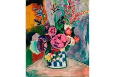 enri Matisse (1869-1954), Les Pivoines, oil on canvas. Painted in Collioure, 1907    More Information: http://artdaily.com/index.asp?int_sec=2_new=54576[/url]  Copyright © artdaily.org