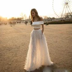 Cheap beach wedding dress, Buy Quality wedding dress directly from China wedding dresses with pockets Suppliers: Robe De Mariage 2017 Feather 2 Pieces Beach Wedding Dresses With Pockets Tanks With Skirts Pockets Bridal Gowns Casamento Engagement Party Dresses, Bridal Dresses, Wedding Gowns, Prom Dresses, Two Piece Wedding Dress, Wedding Dress With Pockets, Textiles Y Moda, Boho Bride, Dream Dress