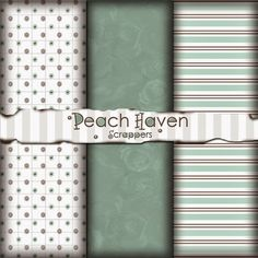 Peach Haven Scrappers: Free Digital Scrapbook Paper Pack: Simply Mint