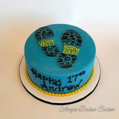 Runner's birthday cake