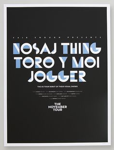 Branding by Adam Guzman for the Nosaj Thing/Toro Y Moi.