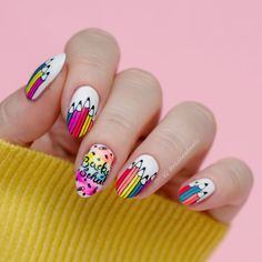 September was my most hated date for many years. But as I don't go to school anymore, I can share with you this cheerful, back-to-… Stamping Plates, Nail Stamping, Creative Nails, Gorgeous Nails, Swatch, Nail Designs, Nail Polish, Nail Art, Blog