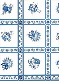 Wachstuch Tischdecke 72-1 Zwiebelmuster blau oval