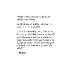 The Qadr of Allah!<< A very important thing to remember!