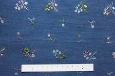 B&J Fabrics | Embroidered Cotton Denim