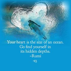 Find yourself in the hidden depths Source by Rumi Love Quotes, Happy Quotes, Wisdom Quotes, Great Quotes, Life Quotes, Inspirational Quotes, Happiness Quotes, Rumi Books, Rumi Poem