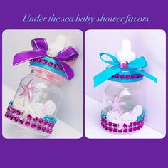 Turquoise And Purple Baby Shower Under The By Marshmallowfavors