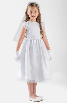 Us+Angels+Embroidered+Organza+Dress+(Little+Girls+&+Big+Girls)+available+at+#Nordstrom