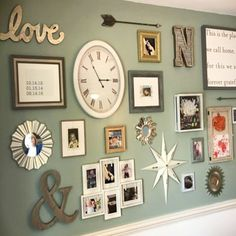 25 Creative Gallery Wall Ideas and Photos for 2017 – Wall Design Diy Home Decor Rustic, Diy Wall Decor, Galley Wall, Family Wall, Family Room, Inspiration Wall, New Wall, Wall Design, Living Room Decor