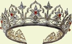 The PoltiMore Tiara - Owned and Worn by Princess Margaret on her Wedding Day and on subsequent occasions in her lifetime. The Queen Victoria Ruby and Diamond Tiara. The Queen Victoria Emerald and Diamond Tiara. Royal Crown Jewels, Royal Crowns, Royal Tiaras, Royal Jewelry, Tiaras And Crowns, Fine Jewelry, British Crown Jewels, Jewellery, Victoria And Albert