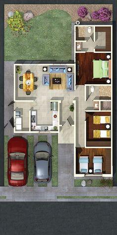 Aragón – Vertex Another o. however almost no windows. Sims House Plans, Dream House Plans, Small House Plans, House Floor Plans, Bungalow House Design, Modern House Design, Model House Plan, Indian House Plans, Boho Home