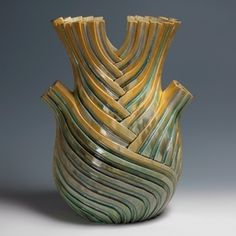 A Ribbed Angel Fennel | Crystalline-glazed stoneware | Kate Malone, 2012