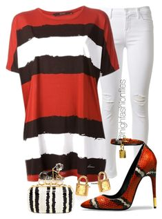 """""""Sting the b's"""" by highfashionfiles ❤ liked on Polyvore featuring J Brand, Gucci, Michael Kors, Alexander McQueen and Tom Ford"""