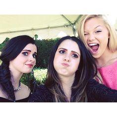 Olivia Holt with Vanessa and Laura Marano :D