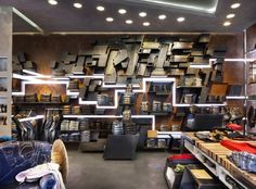 RIFLE flagship store by David Rossi Design Milan Italy