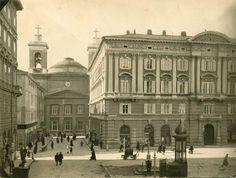 Piazza San Giovanni 1900 con al centro la fontana a pompa