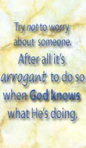 don't worry - trust in God saying quote