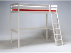 Lit mezzanine sapin 90x190cm + sommier ALTITUDE